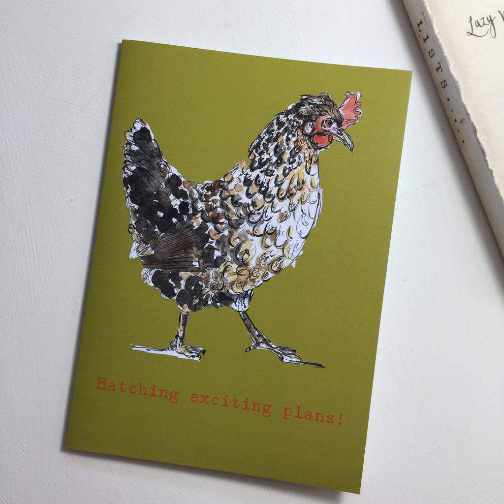 Hatching Exciting Ideas Hen Notebook - A5 Chicken design from an original watercolour