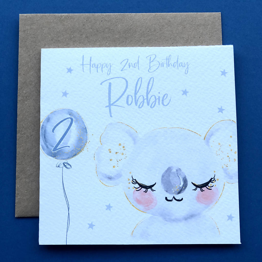 Personalised Children's Koala Birthday Card
