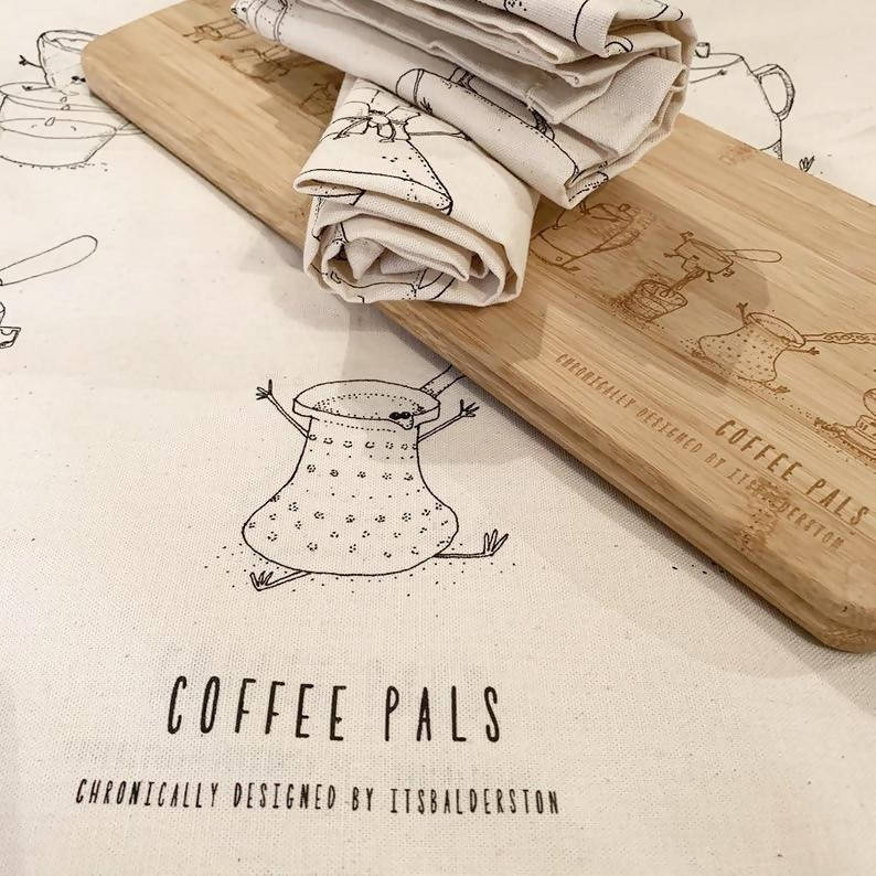 Coffee Pals Tea Towel