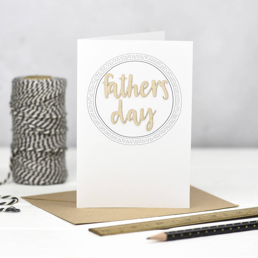 Father's Day Wooden Words Card