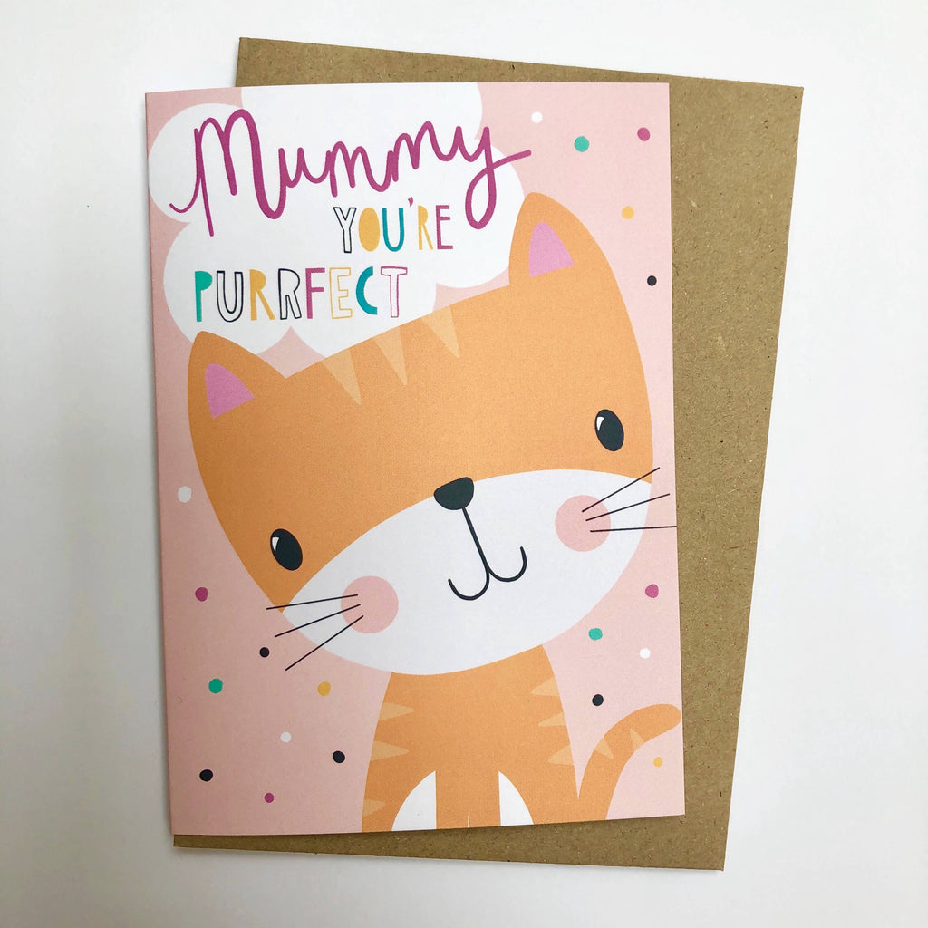 Mummy You're Purrfect Card