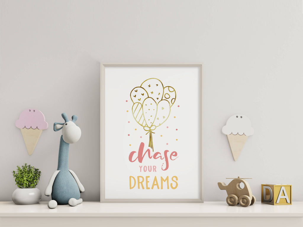 Chase Your Dreams Nursery Print