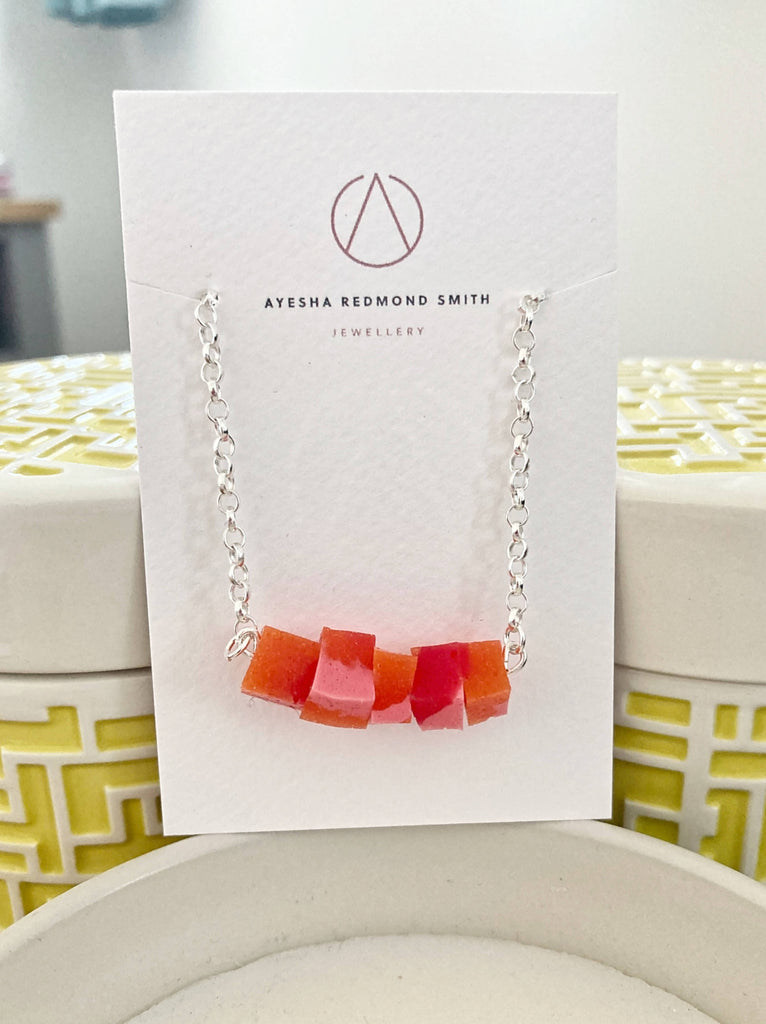 Red and Orange Silicone Necklace