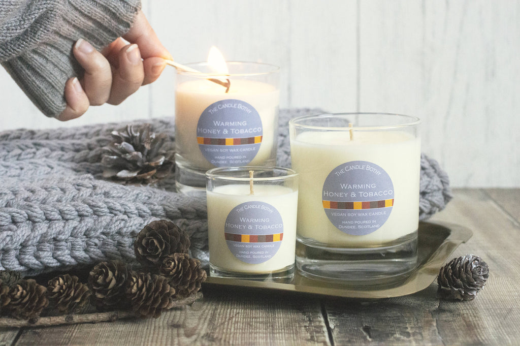 Warming honey & tobacco soy wax candle