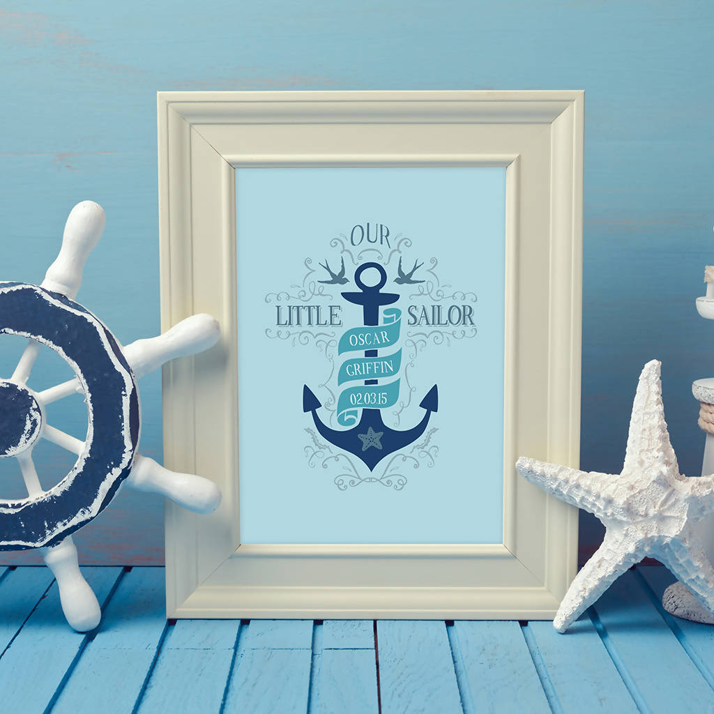 Personalised Our Little Sailor Print (UNFRAMED)
