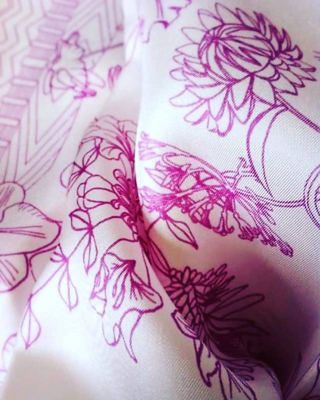 Purple orchid scarf