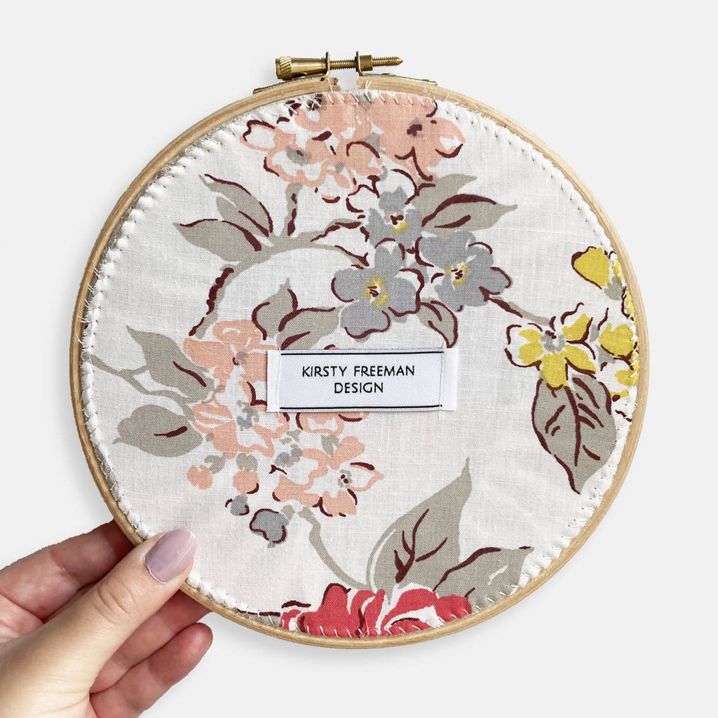 Floral Embroidery Hoop Art - Limited Edition