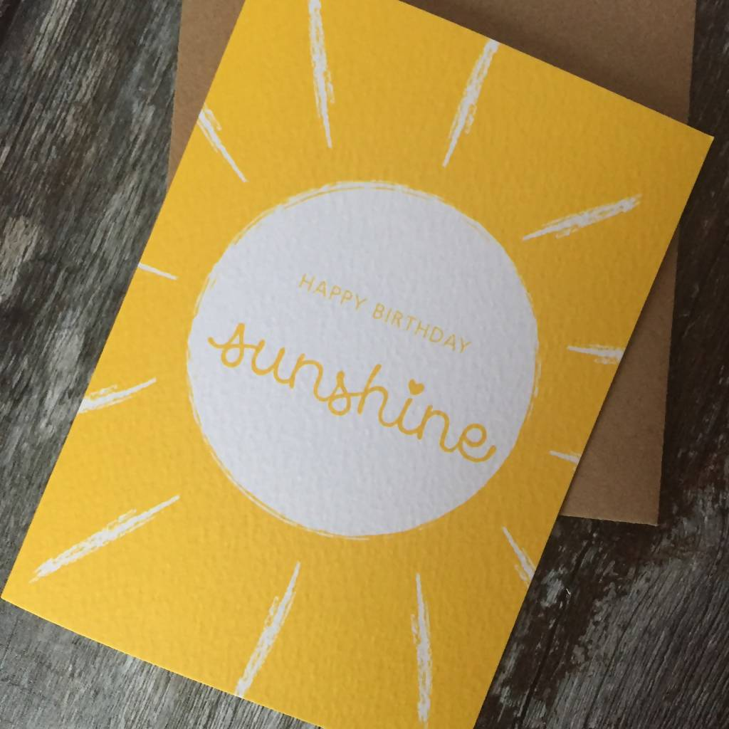 Happy Birthday Sunshine Card