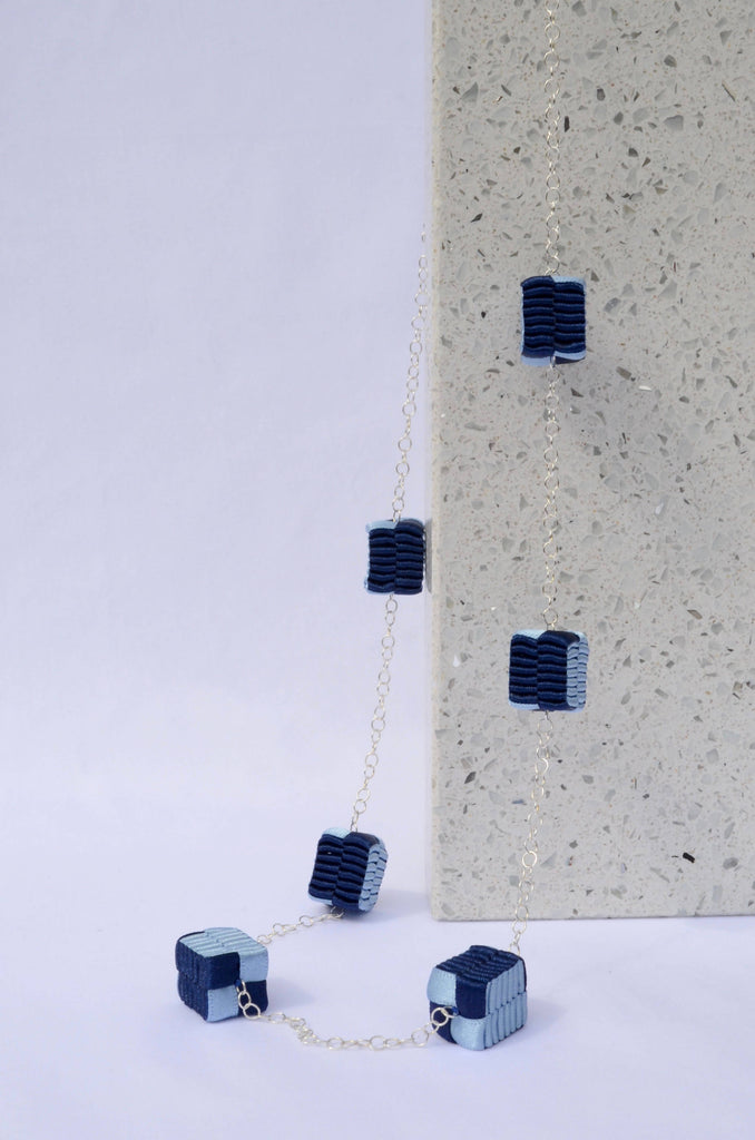 Dotted Blue Necklace