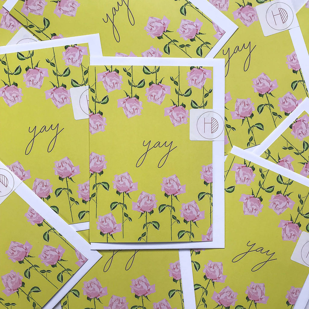 A5 Yay Greetings Card - Spring Forward Collection
