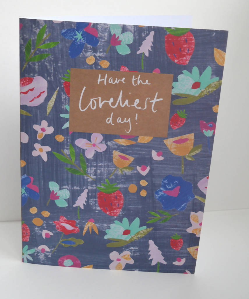 Dolly Pepper Studio, A5 Greeting cards, Loveliest day card, lovely florals
