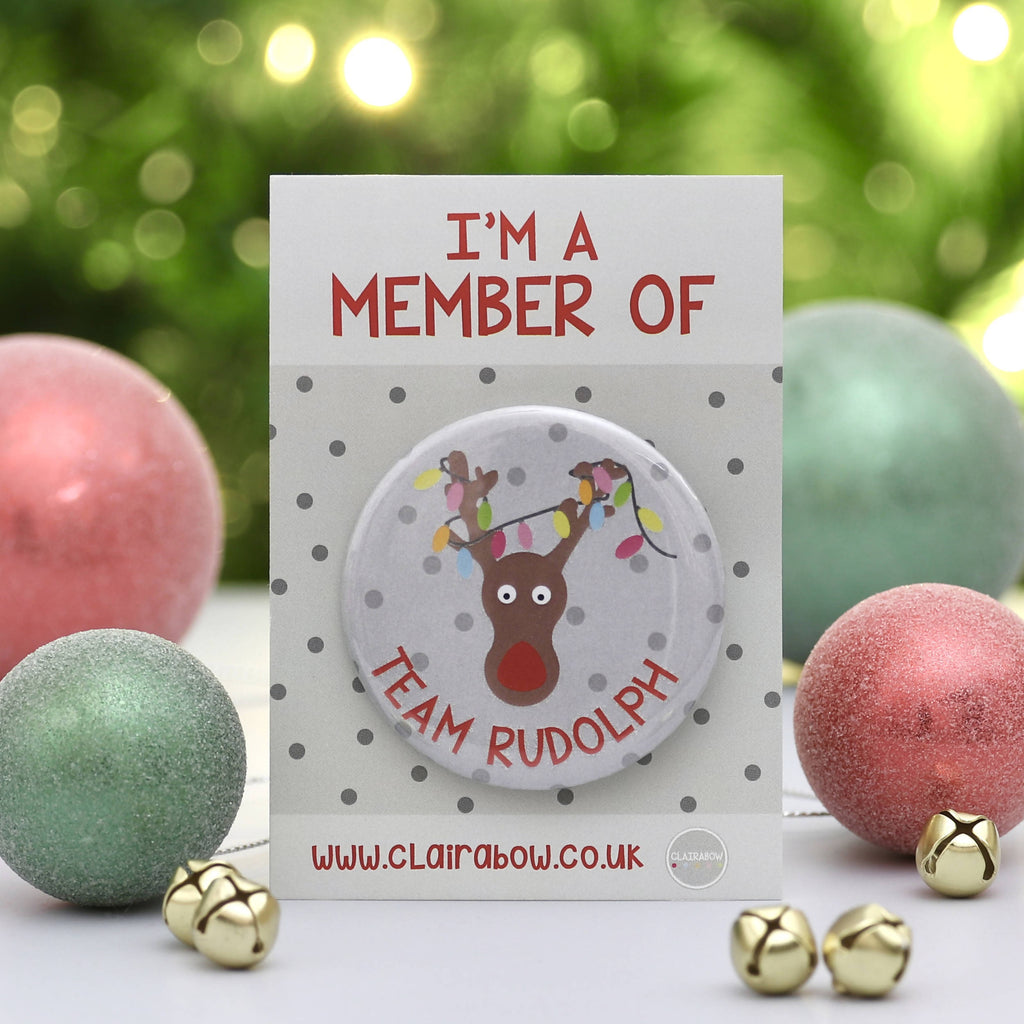 Team Rudolph Christmas Badge