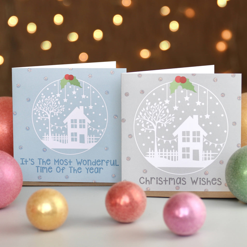Pack of 6 Winter Snow Globe Christmas Cards