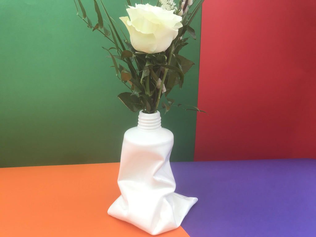 'Crouched Tube' Limited Edition Sculpture/Vase - Small WHITE Version