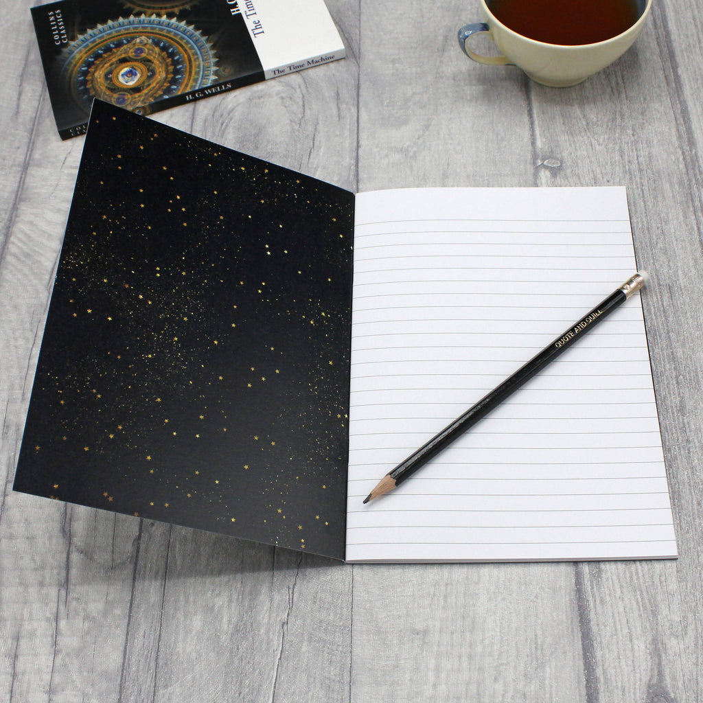 Stars and Space A5 Literary Notebooks - Eco-Friendly