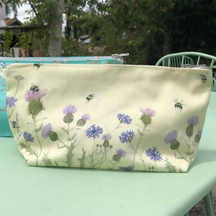 Bee & Wildflower Makeup Bag