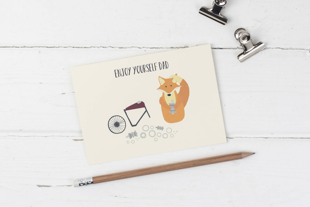 Fox- enjoy yourself dad card