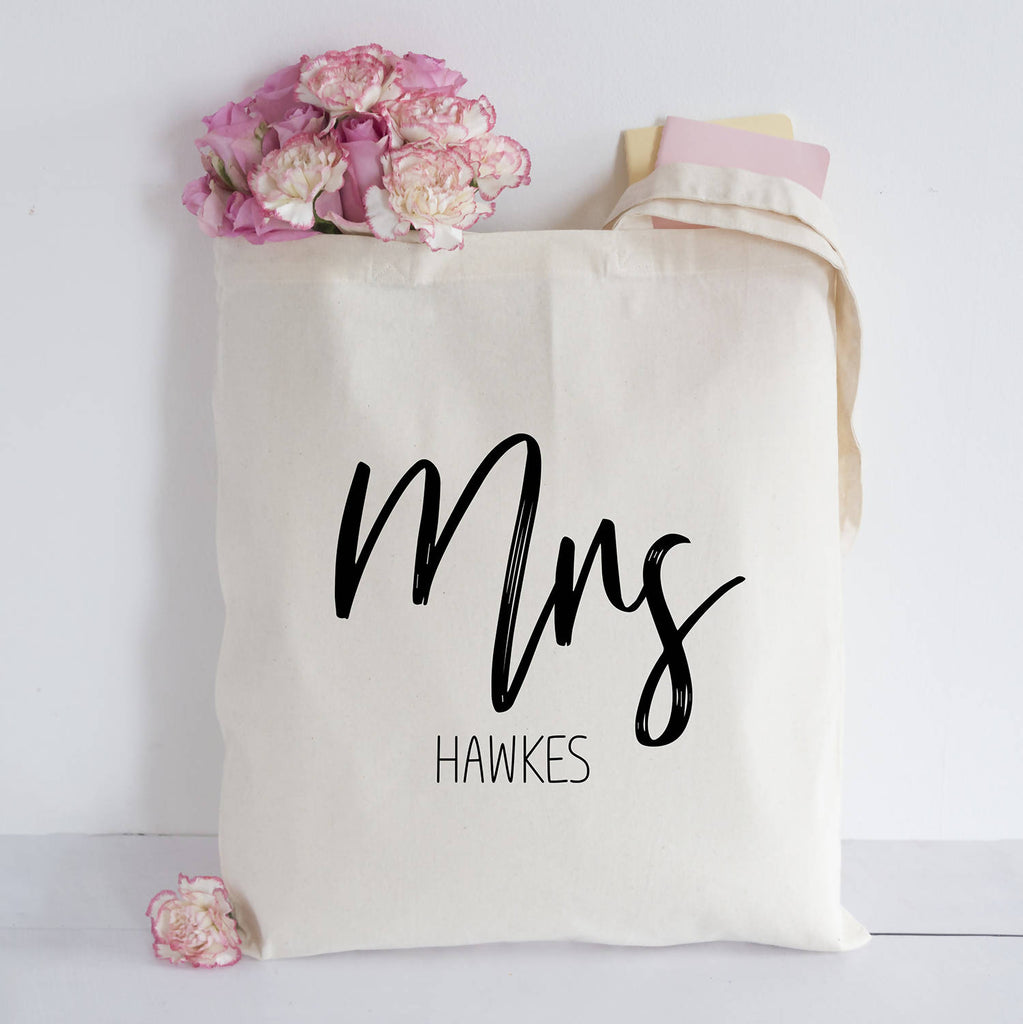 Personalised Mrs Tote Bag