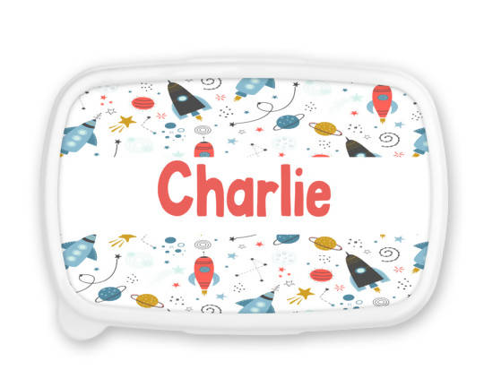 Personalised Space Snack/Sandwich Box