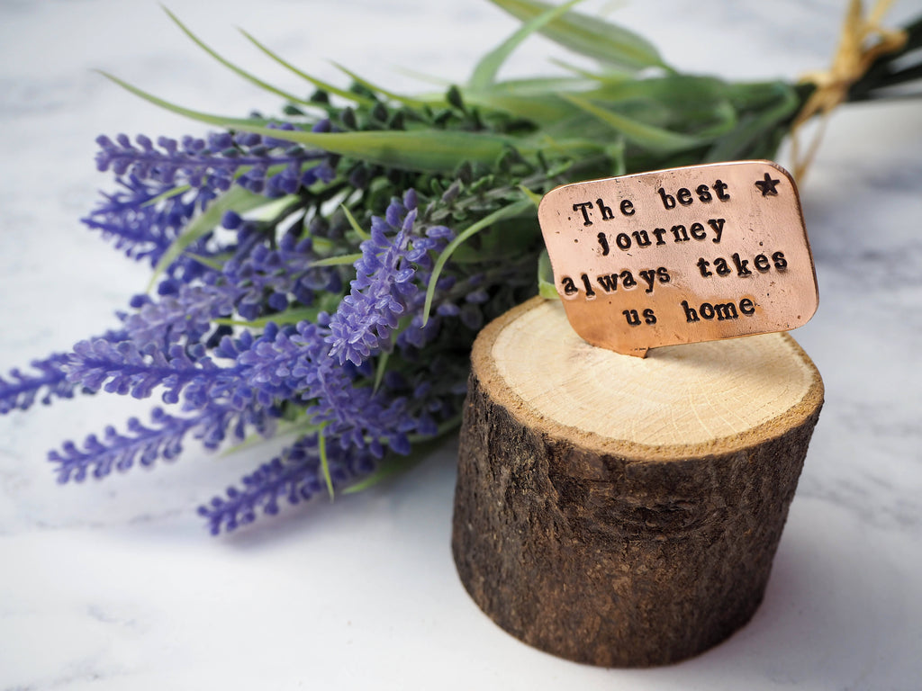 Wood and Copper Quote Home Decor Gift