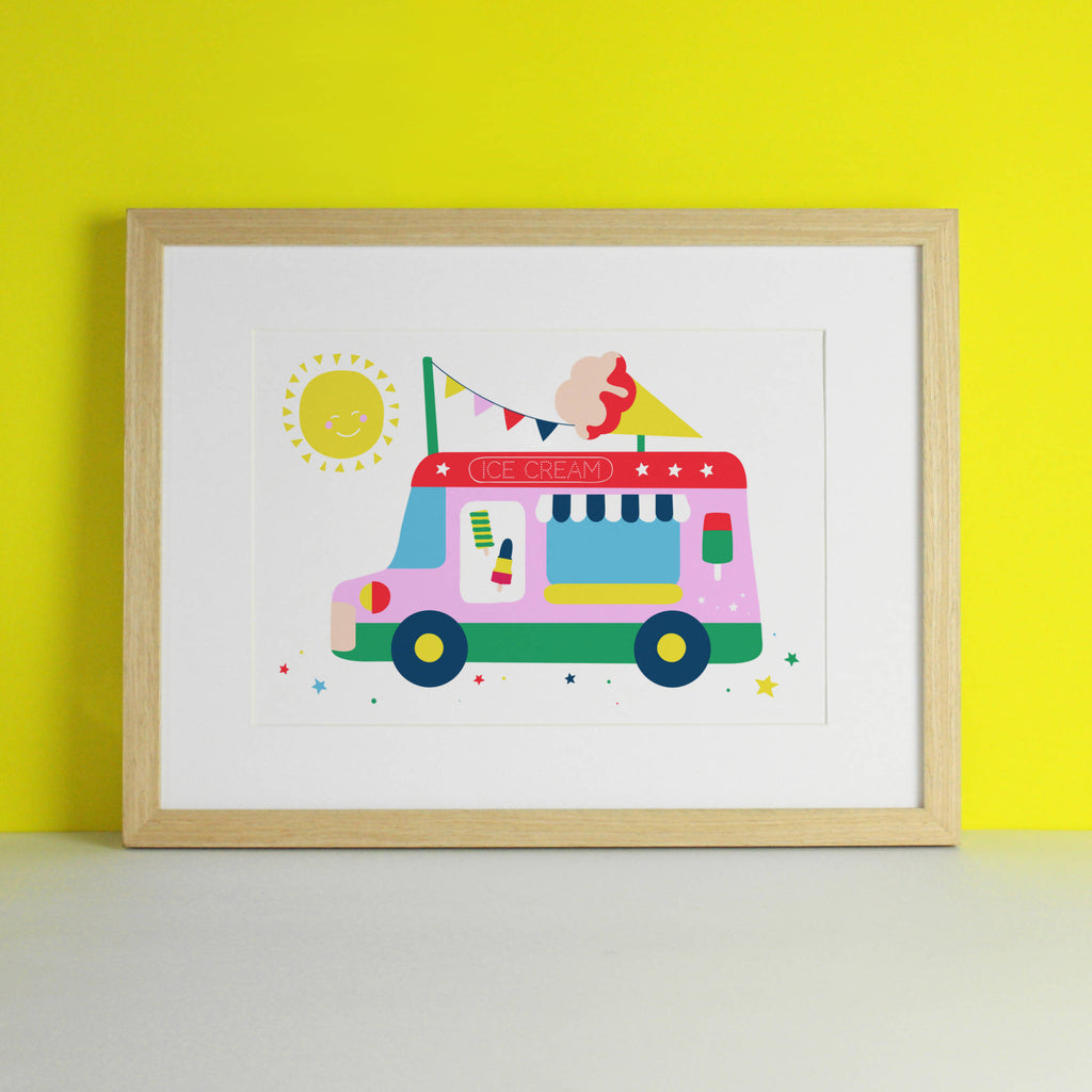 Ice Cream Van Nursery Art Print
