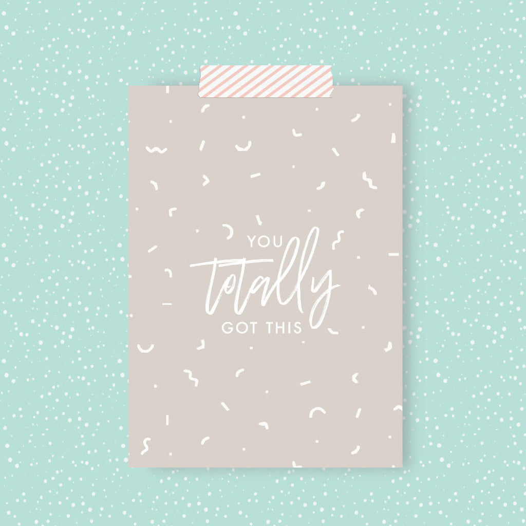 You Totally Got This Print Postcard