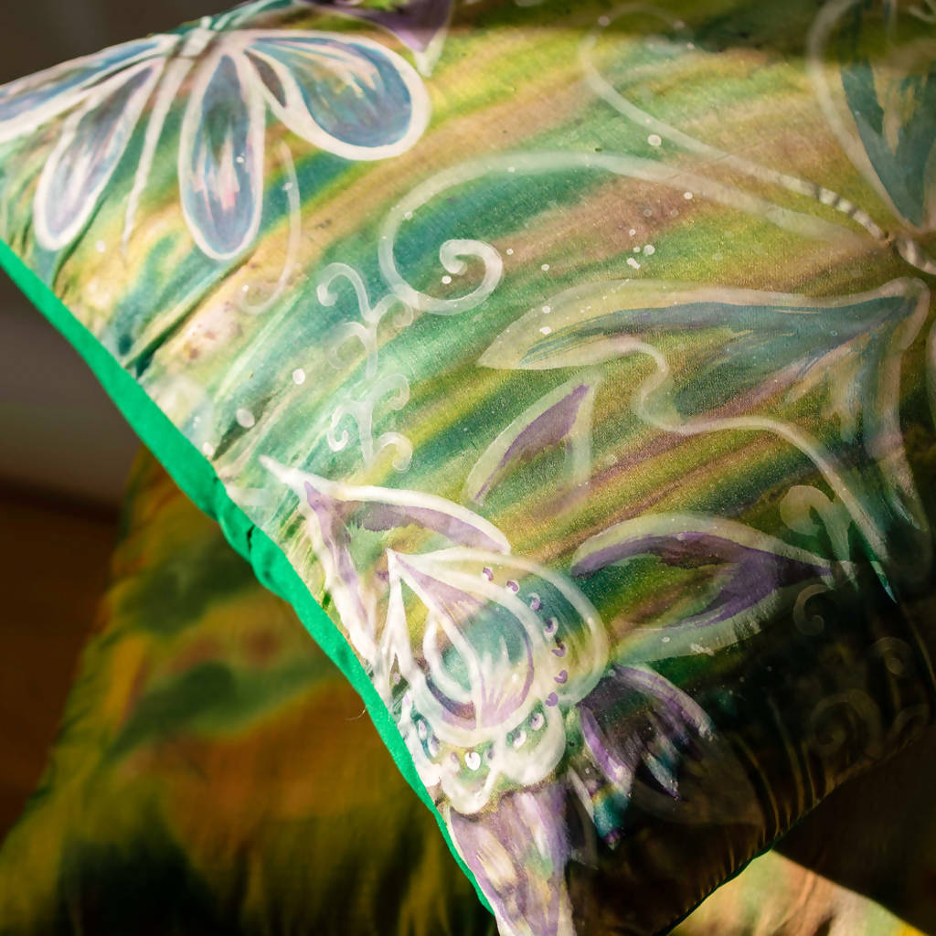Butterflies: Hand painted silk