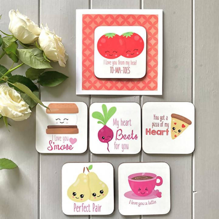 Coaster Cards Food