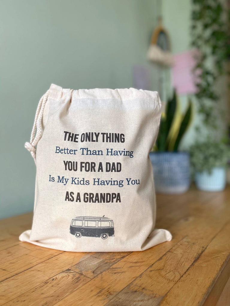 Personalised Grandpa Drawstring Bag