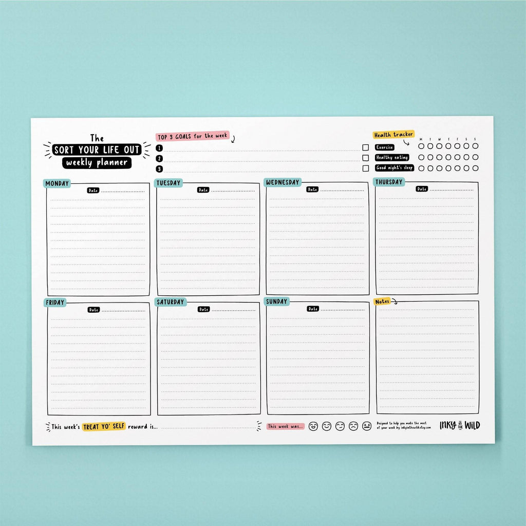 Printable A4 Sort Your Life Out Weekly Planner (Instant Download)