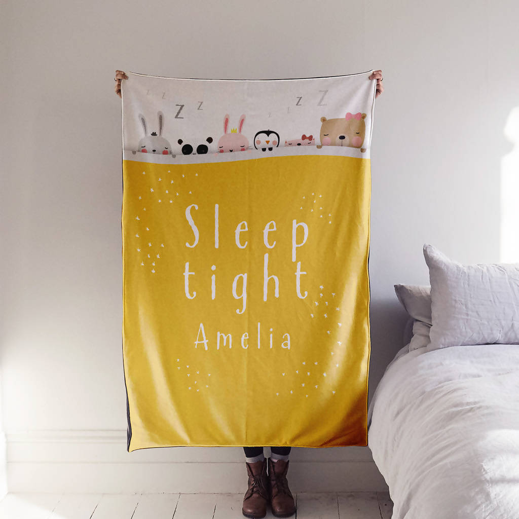 'Sleep Tight' Personalised Blanket For Child Or Baby