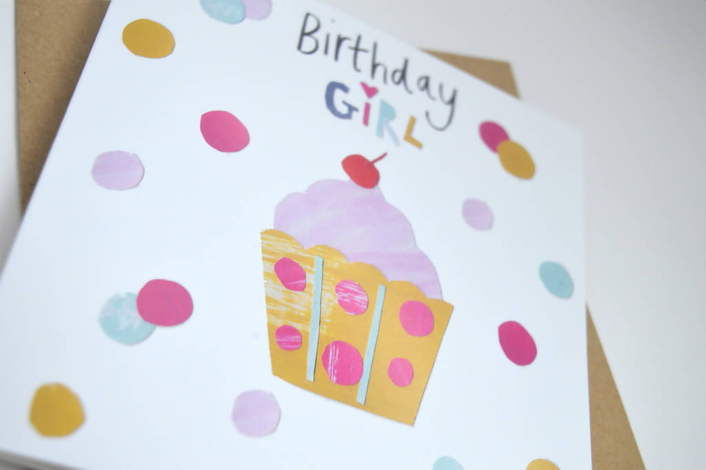 Dolly Pepper Studio, Greeting cards, Birthday cards, Cute cupcake, Gifts for her