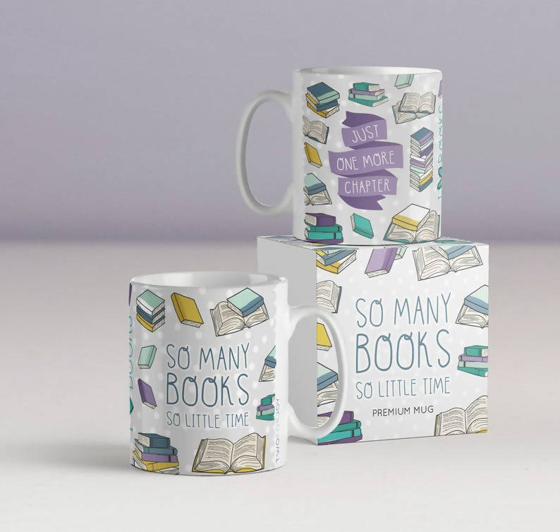 Just One More Chapter Mug - Book Lover Gift - So Many Books So Little Time