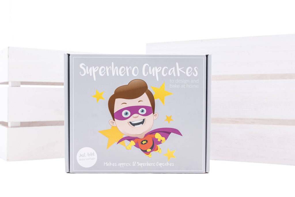 Superhero Cupcakes Bake at Home Kit
