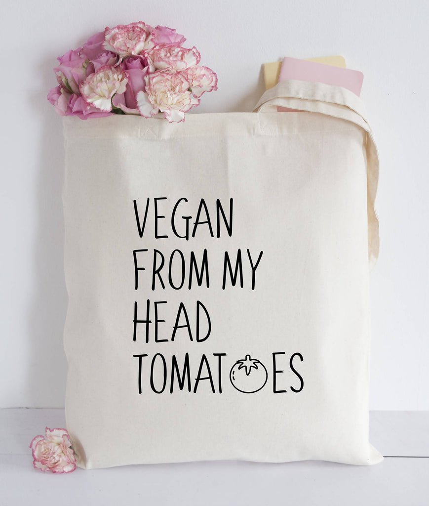 Vegan from my head tomatoes Tote bag