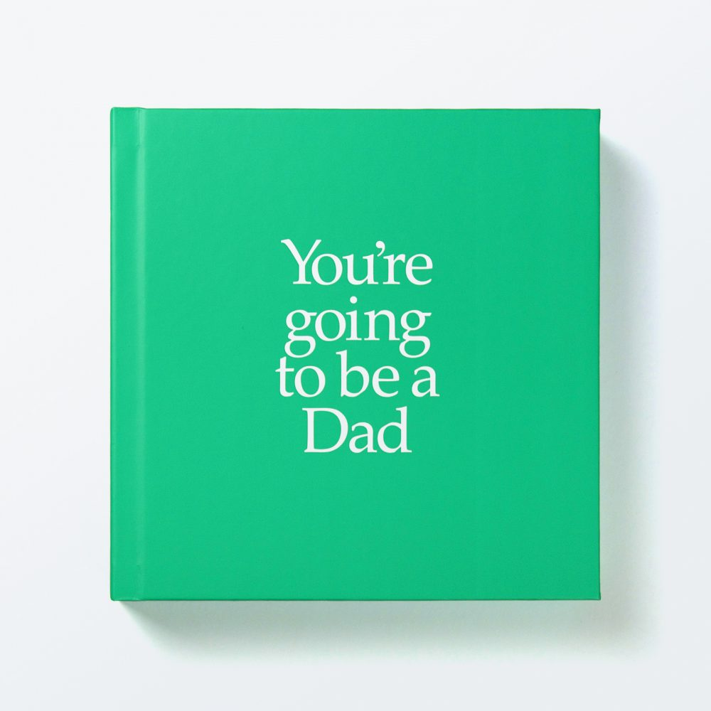 Dad To Be Gift Book With Socks For Adult & Newborn With A Personalised Card. FREE SHIPPING.
