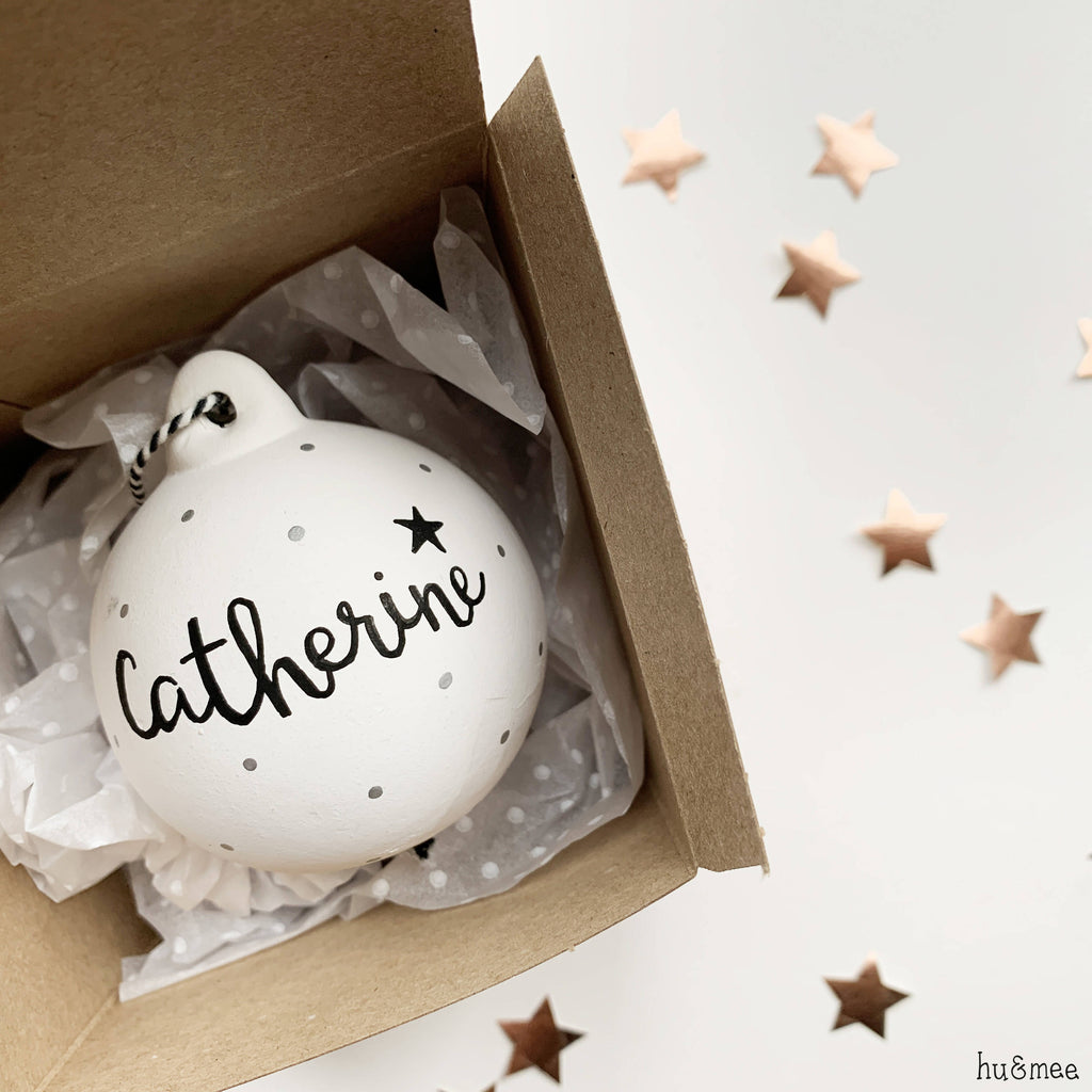 Personalised Name Ceramic Christmas Bauble