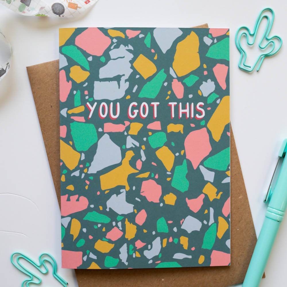 You Got This Terrazzo Positivity Card