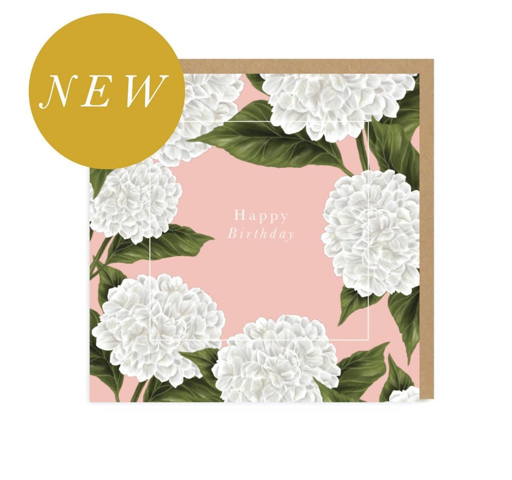 Happy Birthday | Bday | Flowers | Botanical | Gold | Metallic | Card for Teacher | Greetings Card | Hand Finished | Amy Olivia Harris Designs