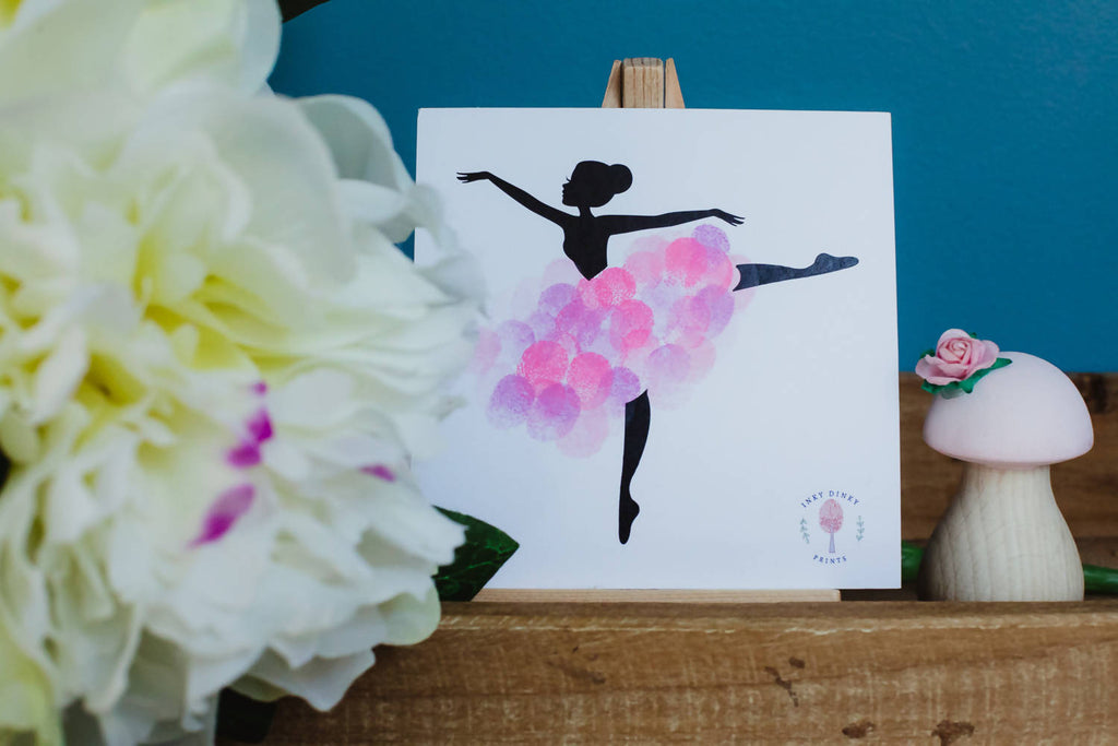 Ballerina mounted print. Fingerprint Artwork
