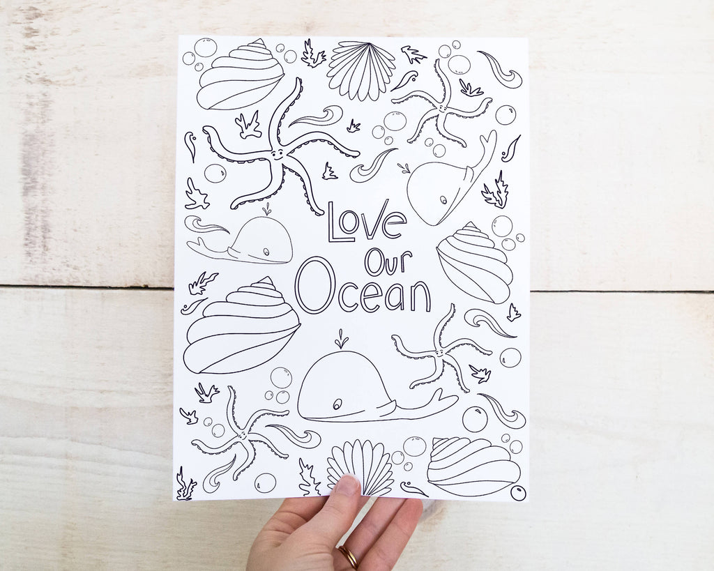 Love Our Ocean Mindfulness Colouring in Printable