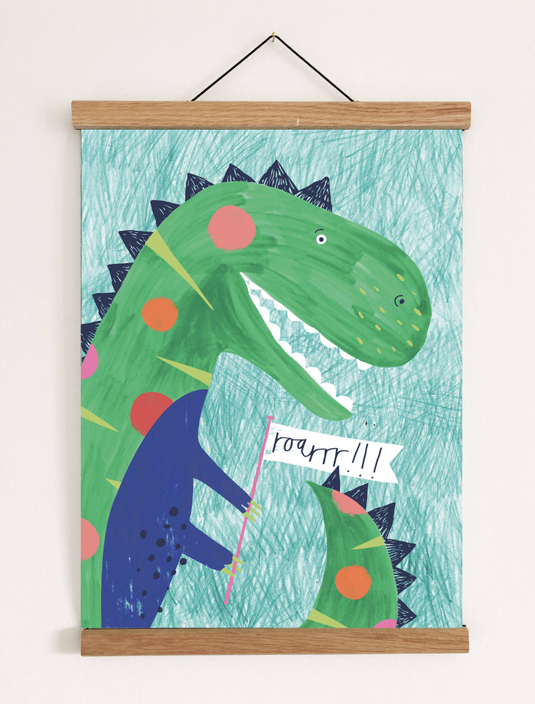 Dino-roar Print (option to personalise)