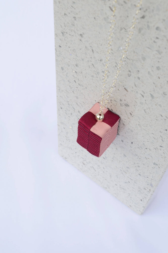 Pink Geometrical Pendant Necklace