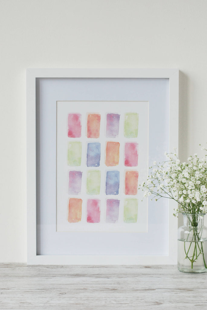 Colourful Life Watercolour Art Print - A4 (Dispatches: 11th March)