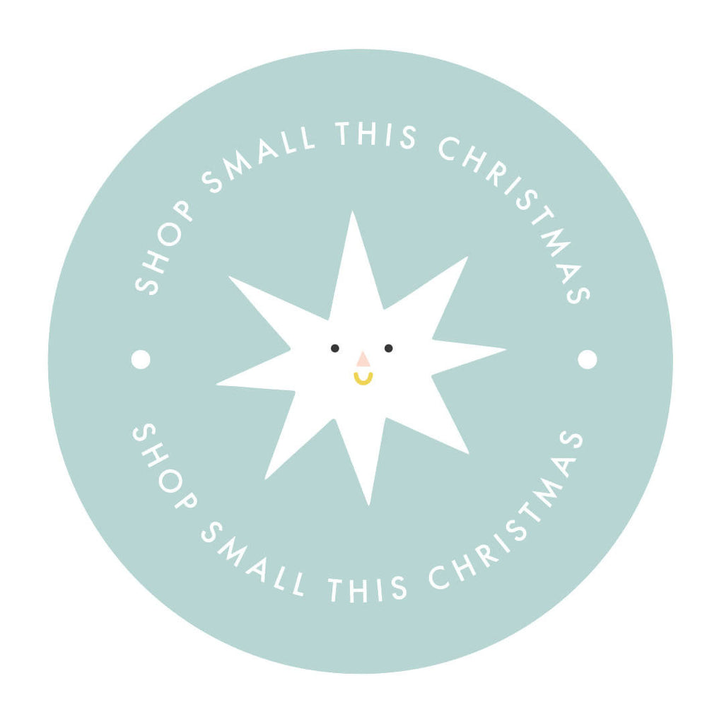 PRE-ORDER Sheet of 35 Shop Small This Christmas Stickers