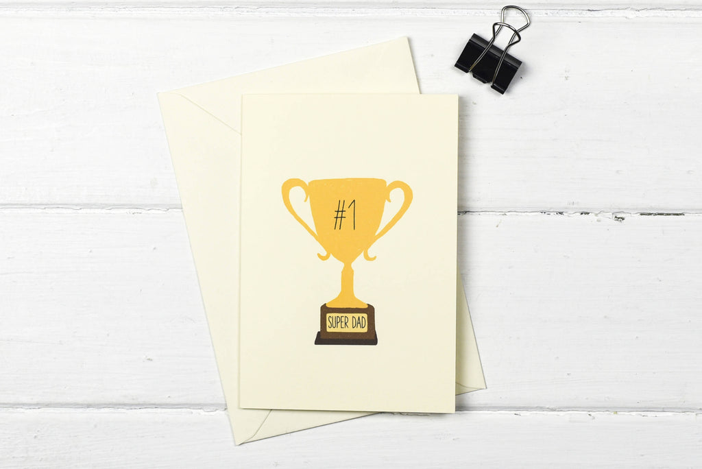Number one- Super Dad- Father's day greetings card