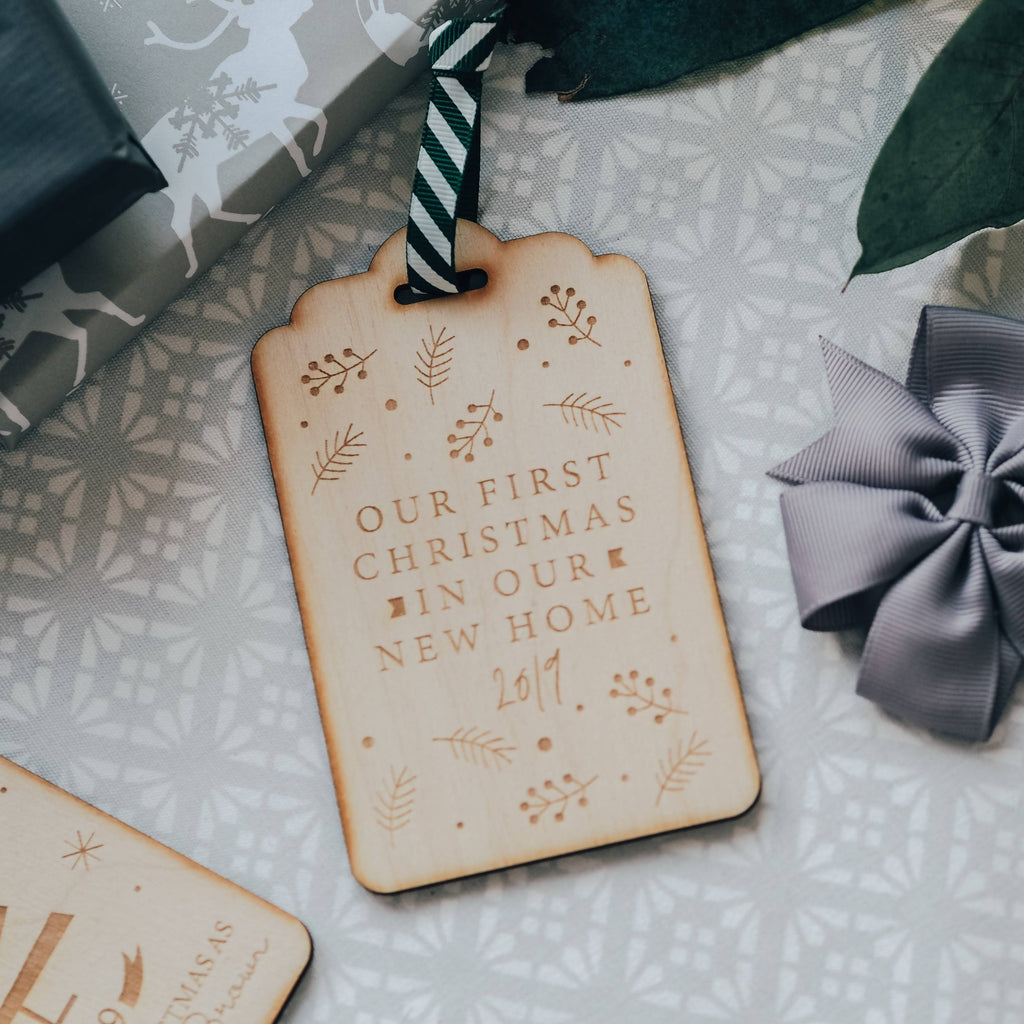 First Christmas In Our New Home Christmas Tree Decoration / Gift Tag Keepsake