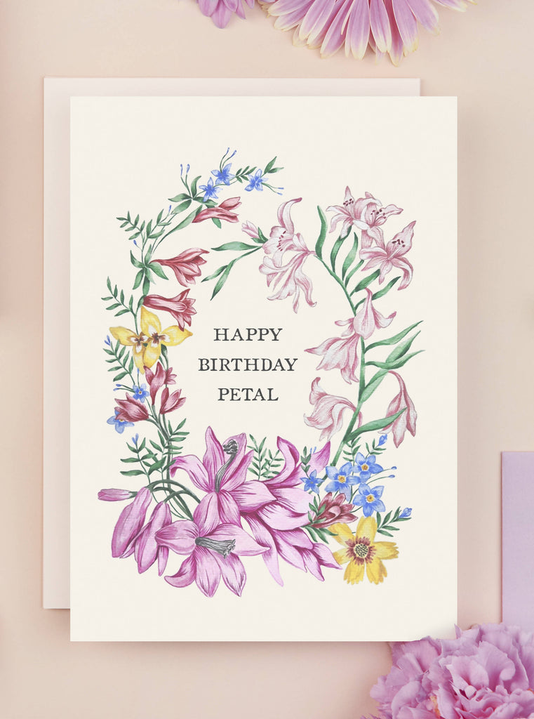 Happy Birthday Petal Card
