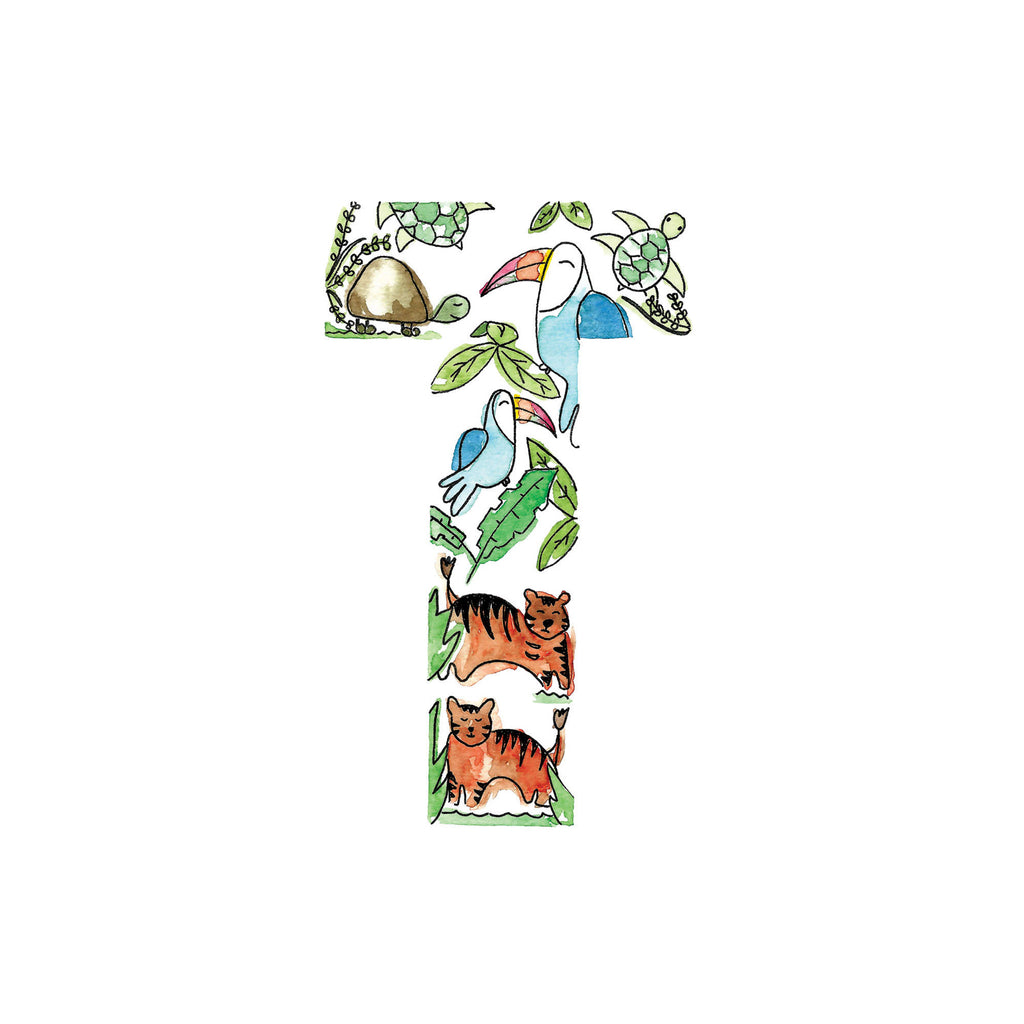 Animal alphabet initial. Letters R-T