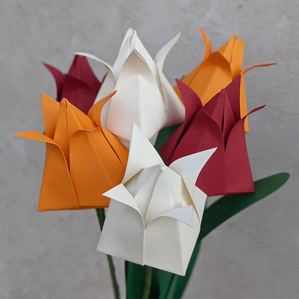 Origami paper tulips bouquet - choose your colours!